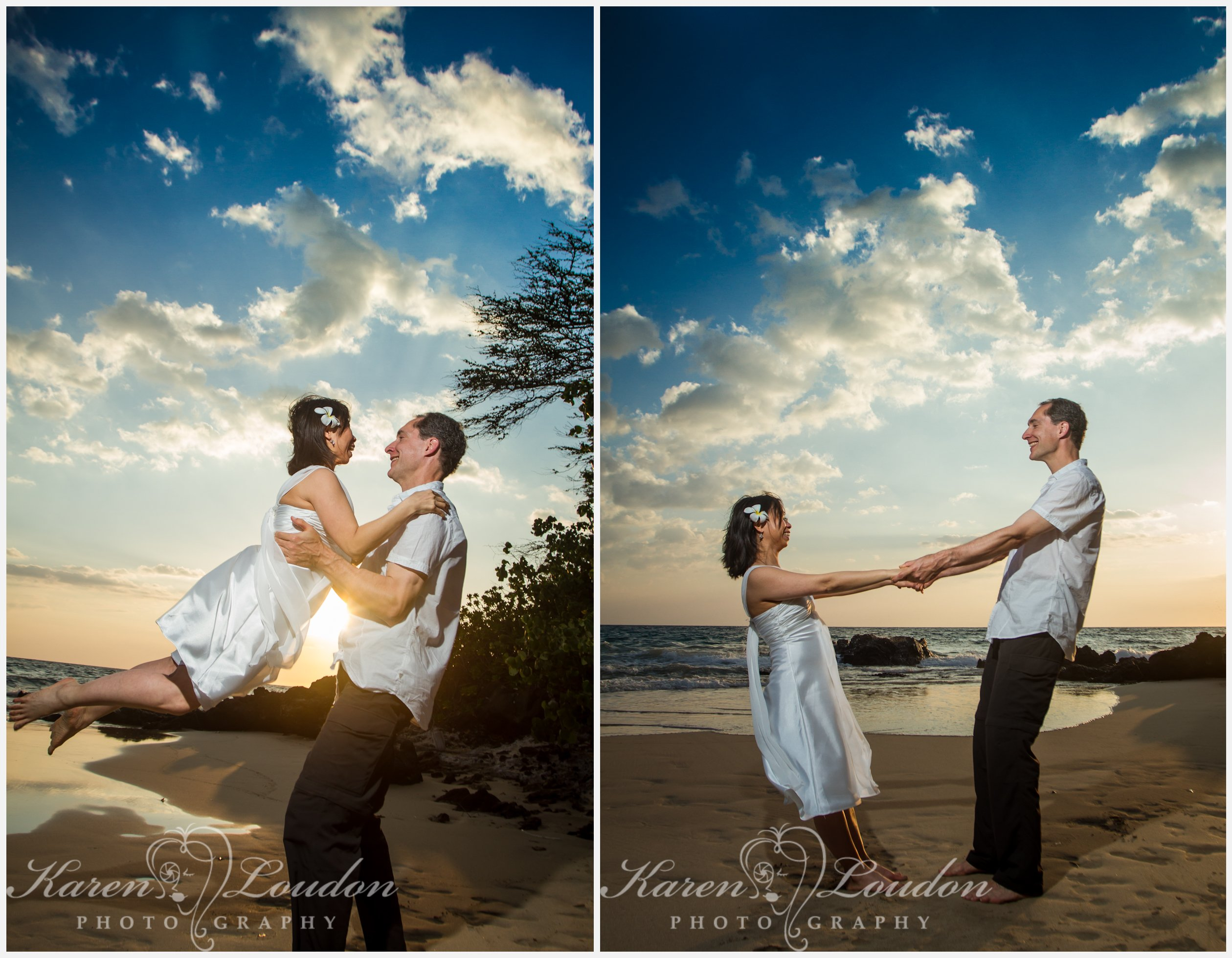 Hapuna Beach sunset wedding