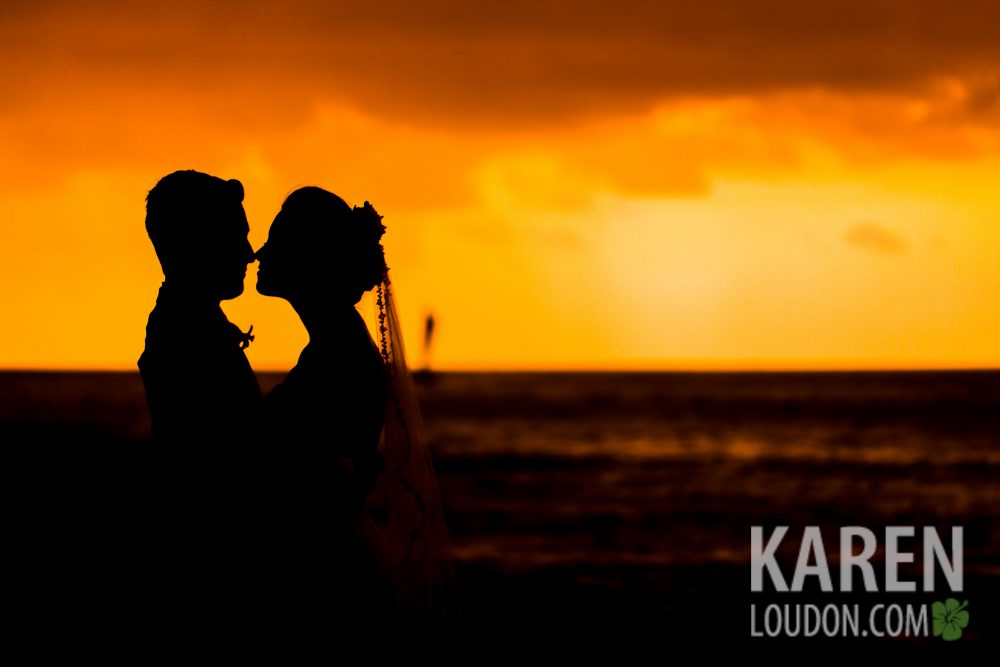 Kona wedding silhouette